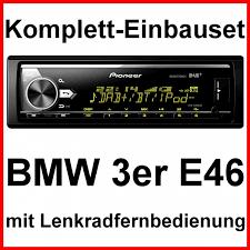 pioneer mvh x580dab. komplett-set bmw 3er e46 mit pioneer mvh-x580dab mp3 wma spotify radio usb flac mvh x580dab