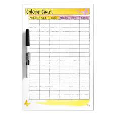 Calorie Tracker Chart Food Calorie Wall Chart Tracker Dry Erase Board