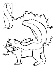 Small Picture Printable Skunk Coloring Pages Coloring Me