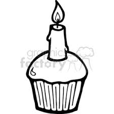birthday candle clip art black and white.  White Black And White Birthday Cupcake In Birthday Candle Clip Art Black And White H
