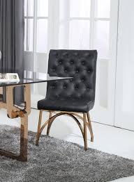 modrest rosie modern black rosegold dining chair 2