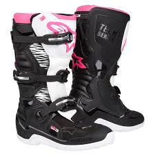 Alpinestar Tech 3 Size Chart Alpinestars Girls Mx Boots Stella Tech 3 Black White Pink