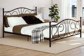 Home Furnishings Dorel Victoria Bronze Queen Metal Bed