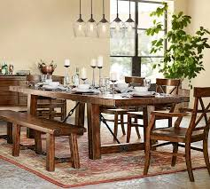 pottery barn benchwright extending dining table rustic gany