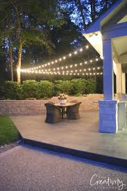 Hanging Garden String Lights Quick Tips For Hanging Outdoor String Lights Outdoor