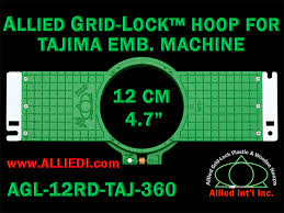 tajima hoop embroidery frame 360 mm as allied gridlock 12 cm 4 7