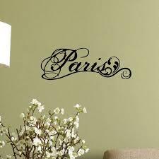 Paris Fancy Elegant Wall Decal Vinyl Wall Stickers Lettering Word