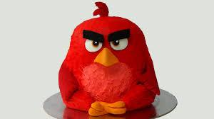 how to make angry birds birthday cake