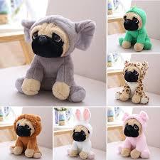 20cm Stuffed <b>Simulation Dogs Plush</b> Sharpei Pug Toys <b>Lovely</b> ...