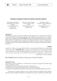Machine Foundation Design Formula Pdf Design Charts For Machine Foundations