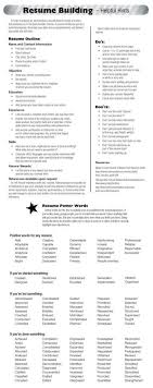 Bistrun How To Build A Resume Awesome 20 Dos And Don Ts Resume
