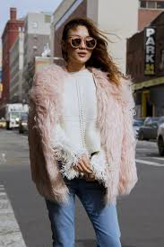 mode and affair fur coat not your standard blog new york fashion week pink fur outfit