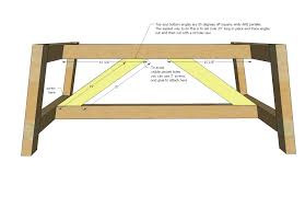 truss coffee table woodworking plans wood plans