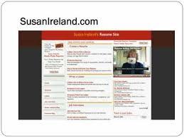Resume It Professional Susanireland Susan Irelands Resume Site