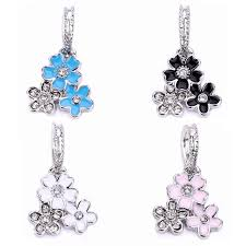 crystal vintage silver flower charm bead pendant fit pandora charms bracelets diy jewelry making spp136 beads jewelry making 8 product org