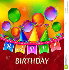 How To Design Birthday Card In Coreldraw Happy Birthday Vector Greeting Card With Colorful Balloons