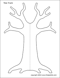 Template Tree Tree Trunk Free Printable Templates Coloring Pages