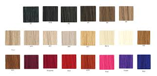 Hair Extension Color Chart