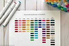 Ohuhu Color Chart Ohuhu Alcohol Markers Handmade By Mona