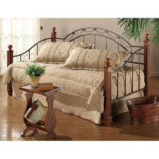 Camelot Iron Wood Daybed in Black Gold Cherry Humble Abode