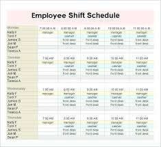 Work Schedule Spreadsheet Template Free Weekly Employee Work Schedule Template Monthly Excel