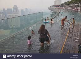 infinity pool mbs. Guests Relax At The Infinity Pool Famous Marina Bay Sands Hotel SkyPark, Singapore Mbs