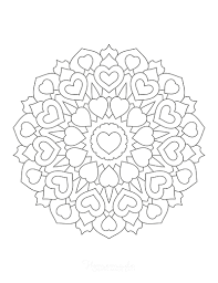 Coloring page heart of hearts | symbol. 70 Best Heart Coloring Pages Free Printables For Kids Adults