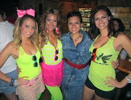 las in 80s neon wear