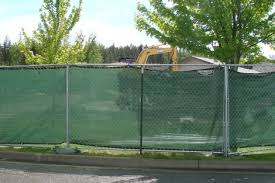 chain link fence privacy screen. Temporary Fence With Green Privacy Screen. Chain Link Screen N