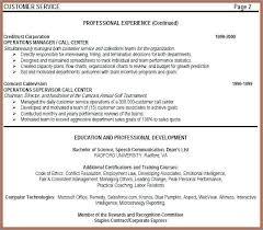 Call Center Resume Emelcotest Com