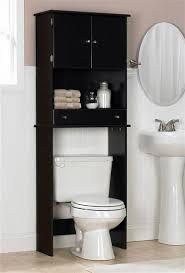 Espresso Finish Bathroom Cabinet Over the Tank Toilet