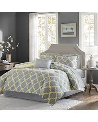 yellow king size comforter. Delighful Size Madison Park Essentials Merritt Cal King Size Bed Comforter Set In A  Bag  Grey With Yellow N