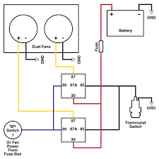 how to wire dual electric cooling fans roadkill customs dual cooling fan wiring diagram