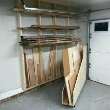 garage wood storage garage shelves build garage lumber storage ideas