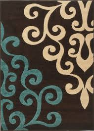cream and brown area rug rug modern damask brown teal blue cream 160x230cm living room or master bed colors