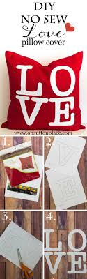 love no sew pillow cover