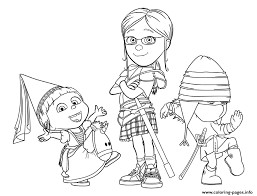 Small Picture Despicable Me 3 the girls Coloring pages Printable