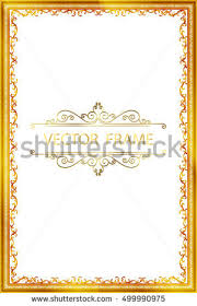 vintage frame border design. Simple Vintage Gold Vintage Frame Decorative Vector Frame Floral With Border Design In Border Design L