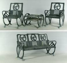 art deco outdoor furniture. art deco castiron patio furniture by jacobs mfg co with outdoor d