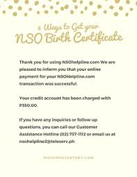 Michi Photostory 3 Ways To Get Your Nso Birth Certificate
