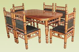 Wooden Kitchen Table Set Furniture Wooden Dining Tables And Chairs With Glasses