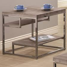 black metal end table  stealasofa furniture outlet los angeles ca