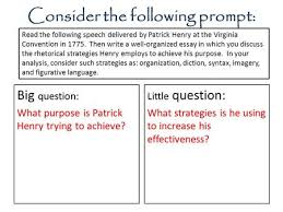 rhetorical devices essay ppt  consider the following prompt little question what strategies is he using to increase his