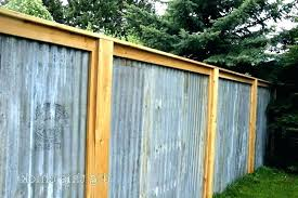 corrugated metal fence panels best images about privacy screen on plastic wood framed plans