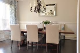dining room wall decor with mirror. Honey Home Dining Room Progress Drapes Mirror Wall Decor With