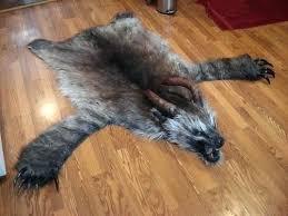 bear skin rug faux cost