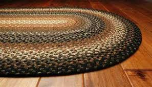 braided oval rugs 8x10 decor cotton braided oval black area rug furniture row credit card