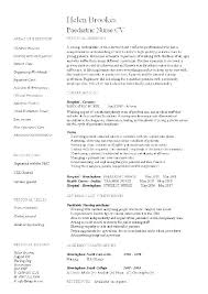 Pediatric Nurse Resume Pediatric Nurse Resume A Drive Sample ...