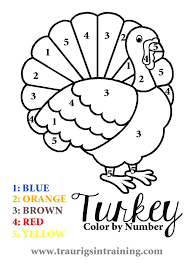 Adding Color By Number Color By Number Thanksgiving Worksheets ...