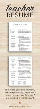 Professional Teacher Resume Template Teacher Resume Templates